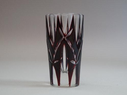 赤色切子ショットグラス [M-065]