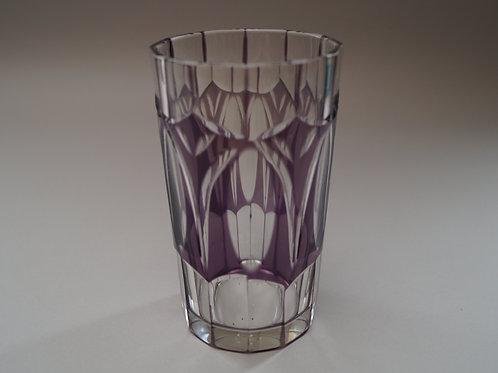 紫色切子コップ [M-039]