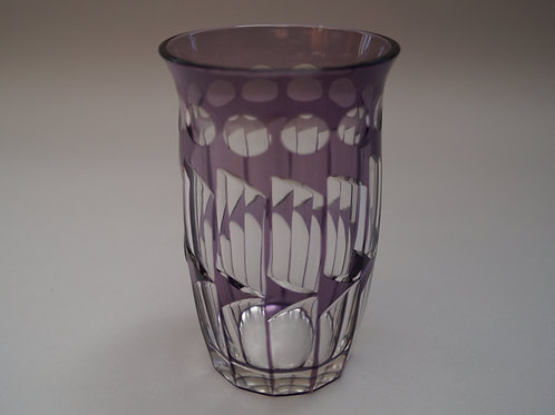 紫色切子コップ [M-053]
