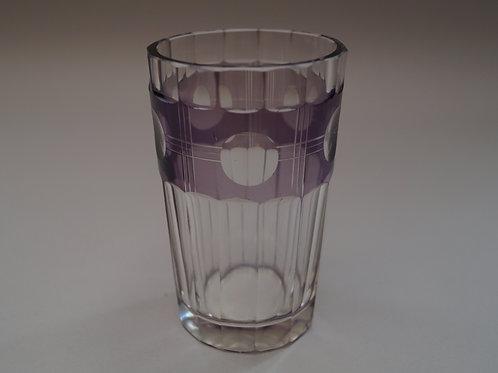 紫色切子コップ [M-043]
