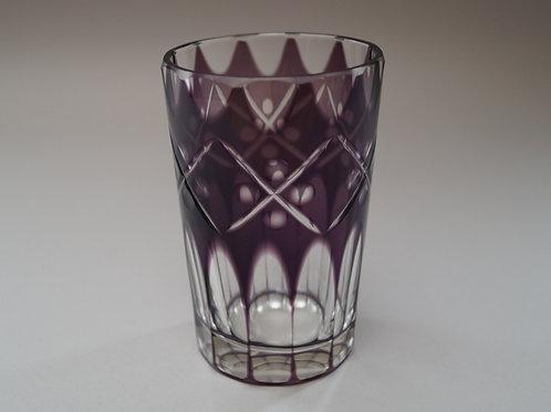 紫色切子コップ [M-038]