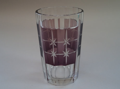 紫色切子コップ [M-056]