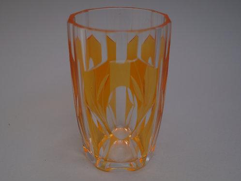橙色切子コップ [M-018]