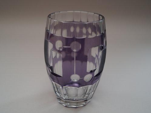 紫色切子コップ [M-045]