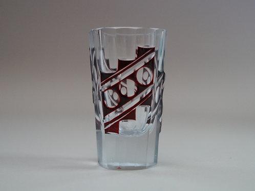 赤色切子ショットグラス [M-064]