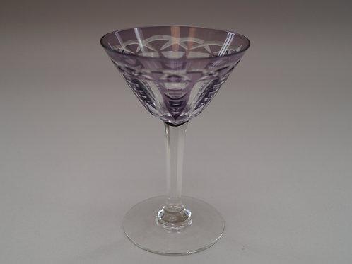 紫色切子カクテルグラス [M-059]