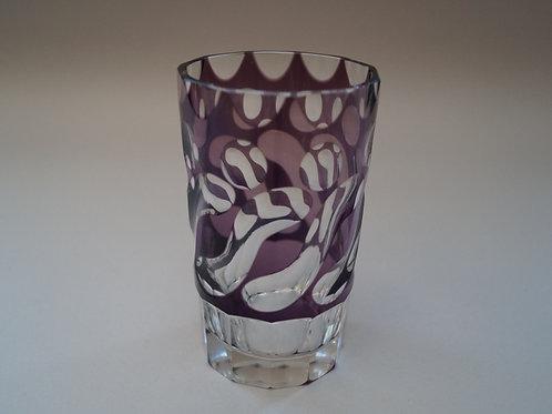 紫色切子コップ [M-055]