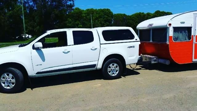 caravan backing up into site