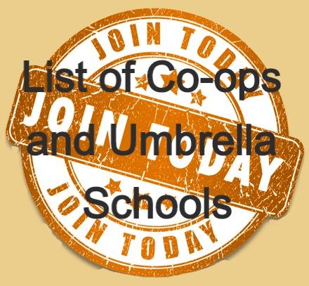 Lists of Co-ops and Umbrella Schools