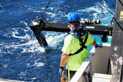 Midwater trawling with a 10-m MOCNESS