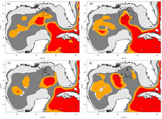 Water mass classification maps for the Gulf of Mexico