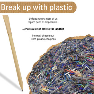 Reduce your stationary plastic pollution - use an eco freindly pen instead!