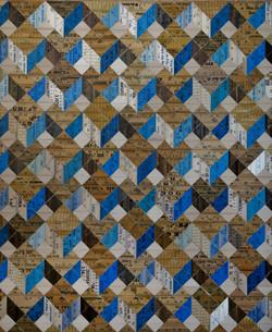Diagonal Cubes (Blues)