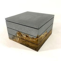 Aluminum & Oak stacking box