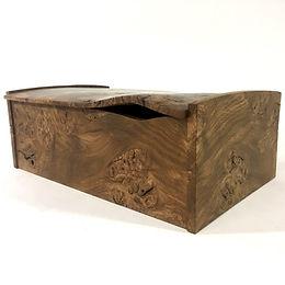 Burr Oak & Graphite desk box