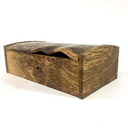 Burr Oak carved large desk