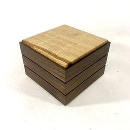 Stacking square Walnut & chestnut