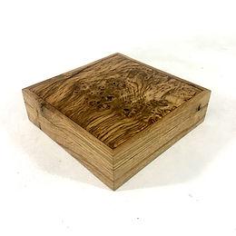 Oak cufflink box