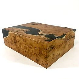 Yew jewellery box