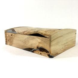 Horse Chestnut & Aluminium desk box