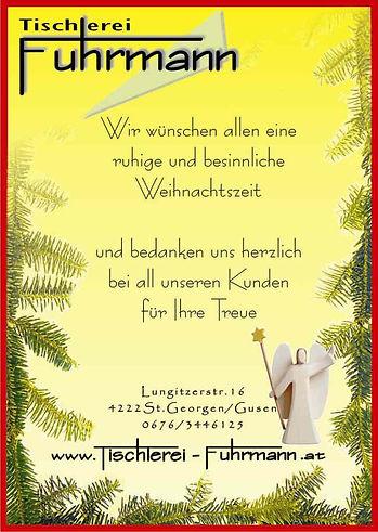 Tischlerei Fuhrmann Weihnachten