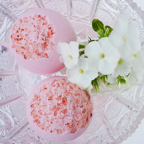 English Rose & Himalayan Pink Salt Bath Bomb