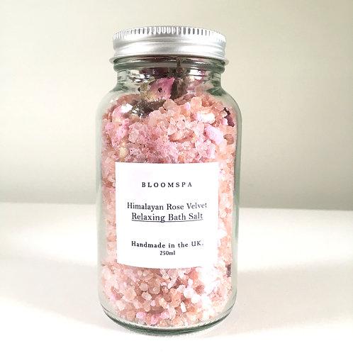 'Himalayan Rose Velvet' Relaxing Minerals Bath Salt