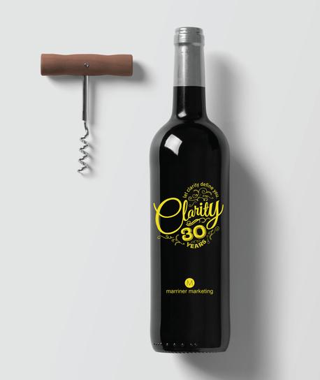30th Anniversary Wine Bottle