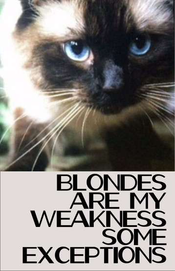 Blondes Are My Weakness