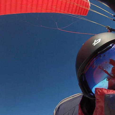 Flying off Mt Baker