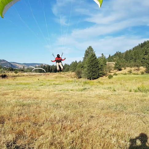 Paragliding Landing at Paraglide Canada