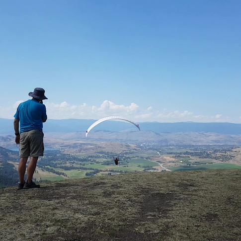 Forward launch on Mt Baldy