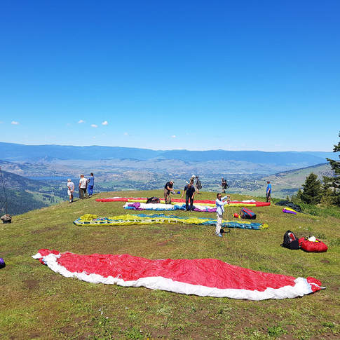 A beautiful day on launch at Baldy