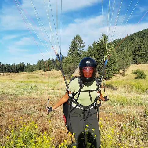 Paragliding Landing Vernon BC