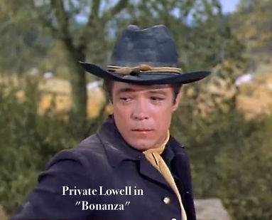 Brendon Boone as Pvt. Lowell in BONANZA