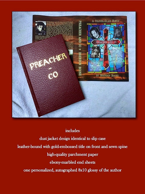 PREACHER AND CO Traditional Hardback w/leather cover and dust jacket