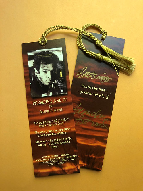 PREACHER AND CO Book Mark - autographed