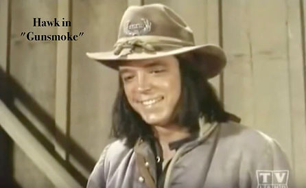 "Brendon Boone as ""Hawk"" in GUNSMOKE"