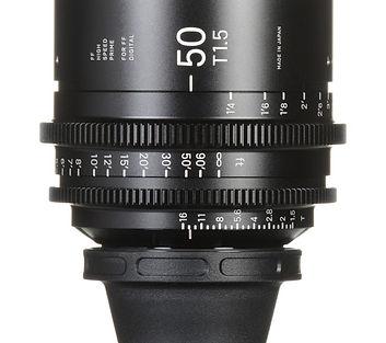 rent 50mm Sigma Cine FF High Speed T1.5