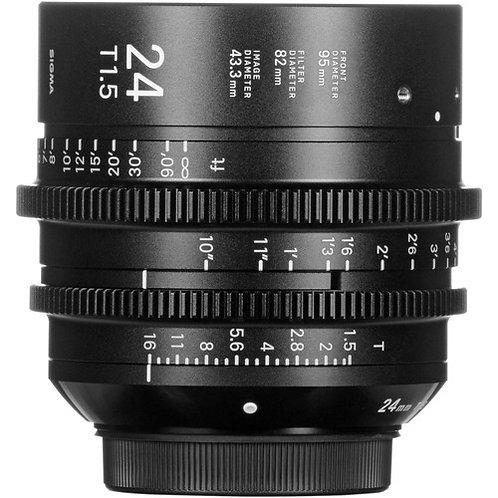 24mm Sigma Cine FF High Speed  T1.5 Prime Lens  PL mount