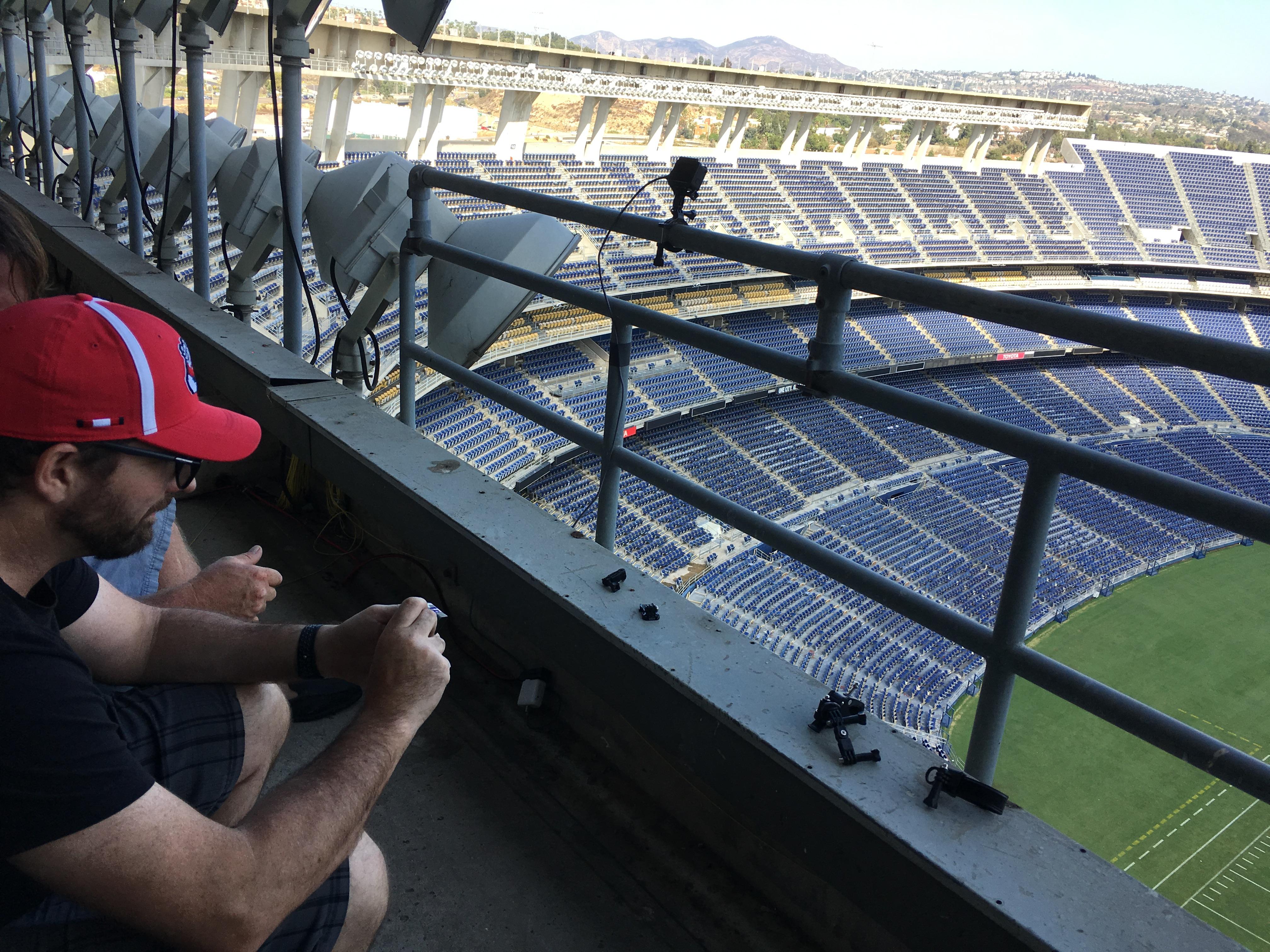 Installing GoPro for U2 Concert
