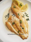 Catfish in Lemon Basil Sauce
