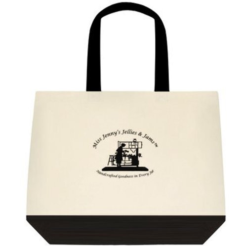 TWO-TONED DELUXE TOTE