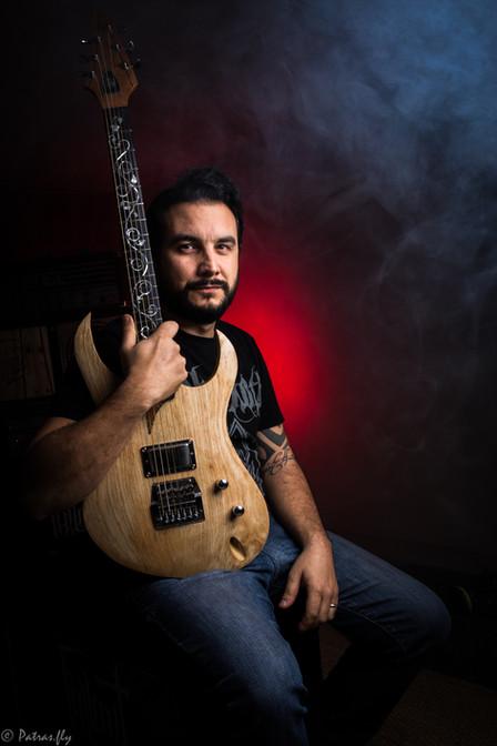 chamb - guitars - business portrait