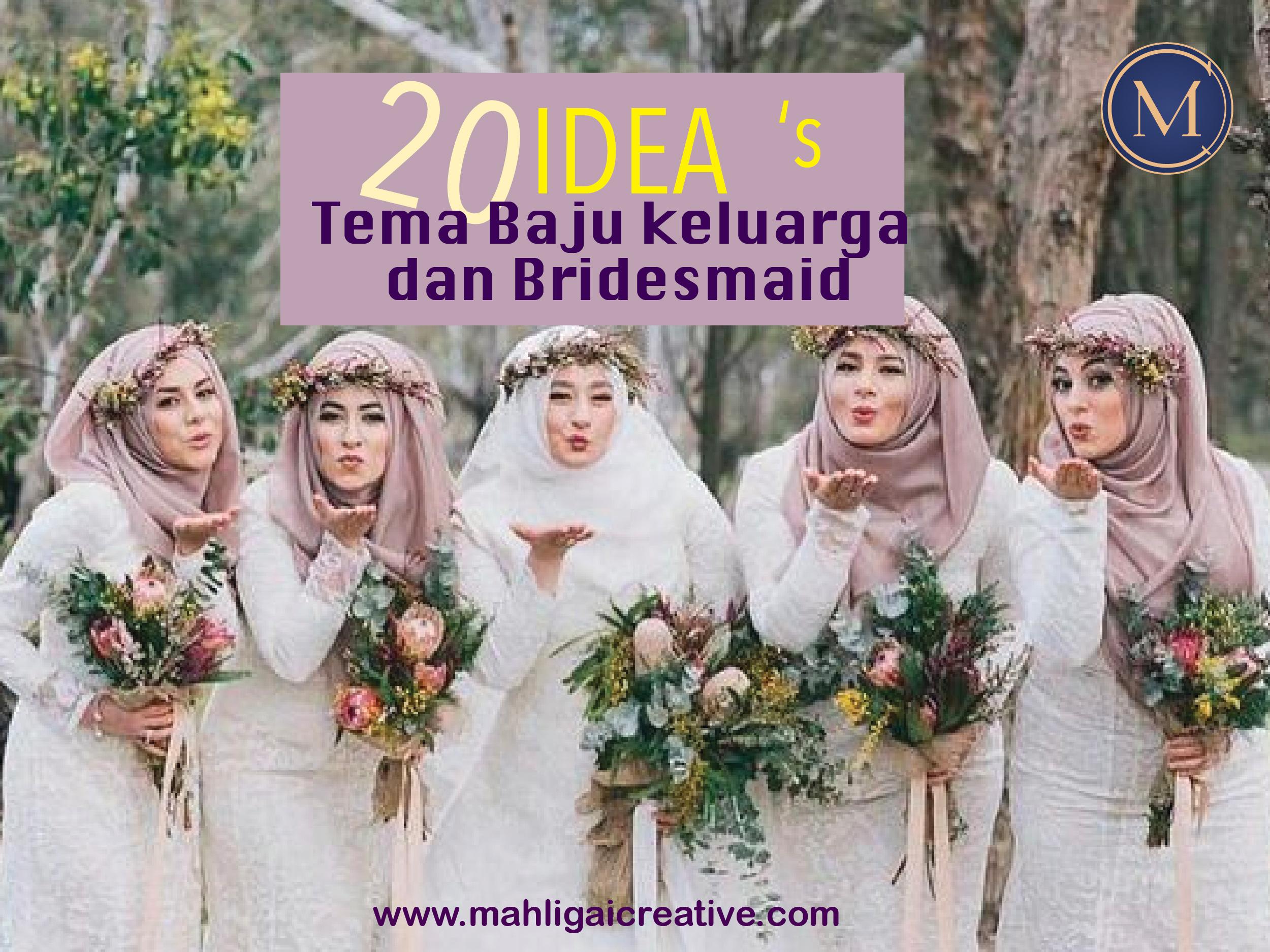 20 Tema Warna Baju Keluarga Baju Bridesmaid Di Hari Perkahwinan