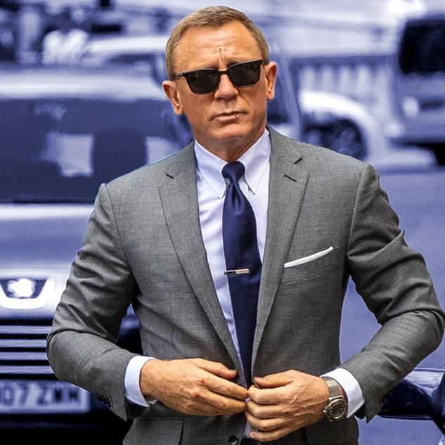 Daniel Craig was spotted wearing Barton Perreira sunglasses.