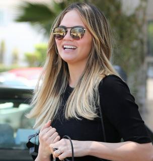 he beautiful Chrissy Teigen out and about in Barton Perreira Aurora!