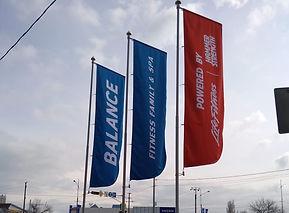 флагшток уличный 6м Баннер. флаг 100х350