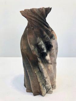 Saggar Fired Twist Vase