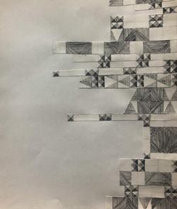 Pen, collage